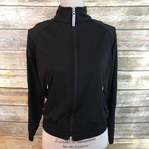 Athleta Black Reflective Zip Jacket , Size M